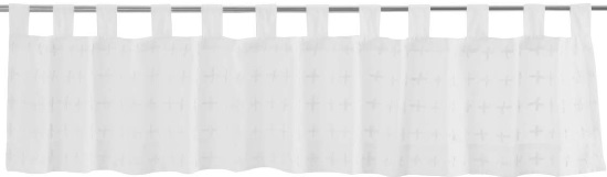 Willow White Tab Top Valance 16x90