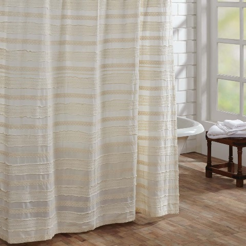 Jasmine Creme Shower Curtain 72x72
