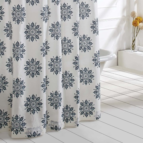 Mariposa Indigo Shower Curtain 72x72