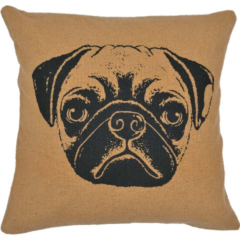 Pug Filled Pillow 16x16