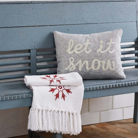 Tinsley Let It Snow Filled Pillow 14x18
