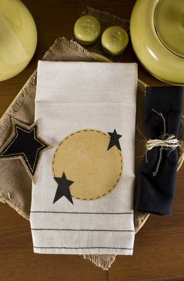 Raven Moon Tea Towel Stars Set of 2 19x28