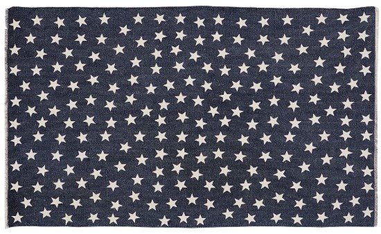 Antique Navy Star Rug Rectangle 36x60
