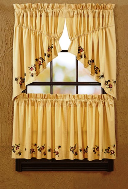 Cambrie Lane Prairie Swag Bees Lined Set 36x36x18