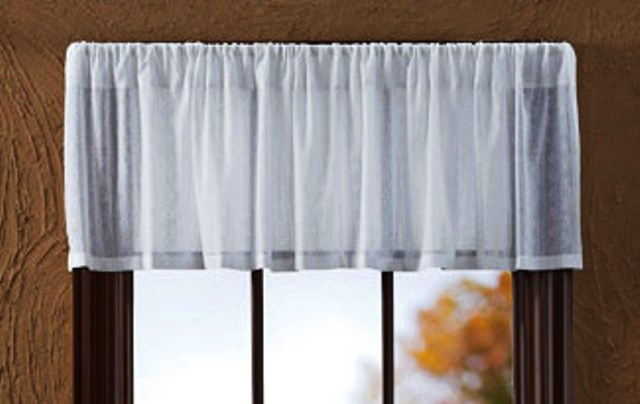 Sheer Dobby Weave Valance Unlined 16x72
