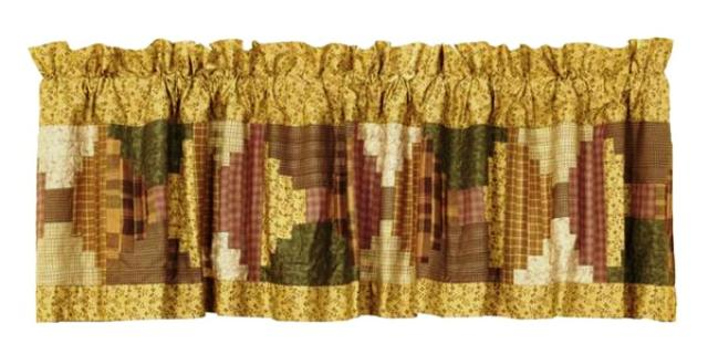 Walnut Grove Valance Patchwork Lined