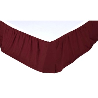 Solid Burgundy King Bed Skirt-Solid Burgundy King Bed Skirt