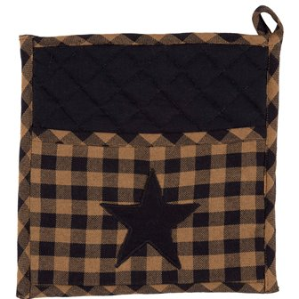 Navy Star Pot Holder-Navy Star Pot Holder
