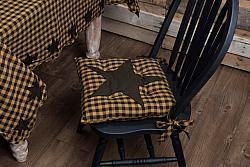 Black Star Chair Pad-Black Star Chair Pad