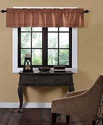 Patriotic Patch Plaid Valance Curtain- Patriotic Patch Plaid Valance Curtain