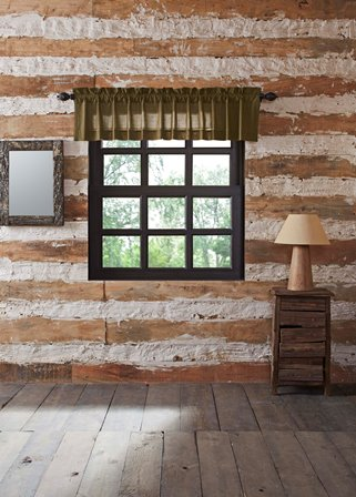 Tea Cabin Green Plaid Valance Curtain-Tea Cabin Green Plaid Valance Curtain
