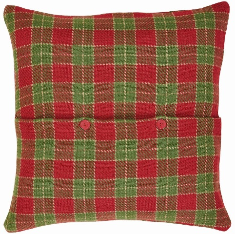 Robert Plaid Pillow With Down Fill 18x18