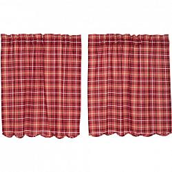Braxton Scalloped Tier Curtain Set-Braxton Scalloped Tier Curtain Set
