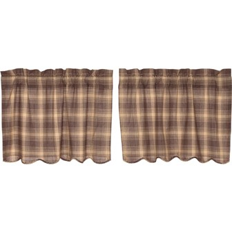 Dawson Star Scalloped Tier Curtain Set of 2 L24xW36-Dawson Star Scalloped Tier Curtain Set of 2 L24xW36