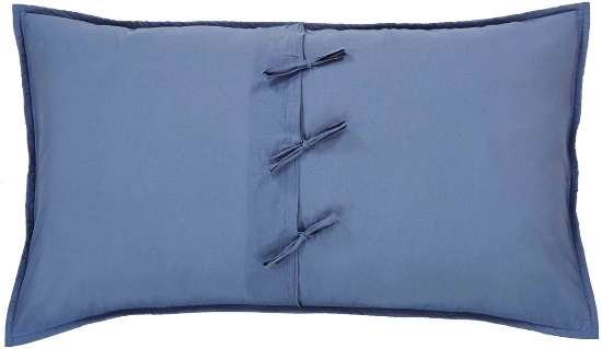 Harbour Navy Luxury Sham 21x37
