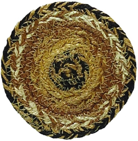 Kettle Grove Jute Coaster Set of 6 4 Inch