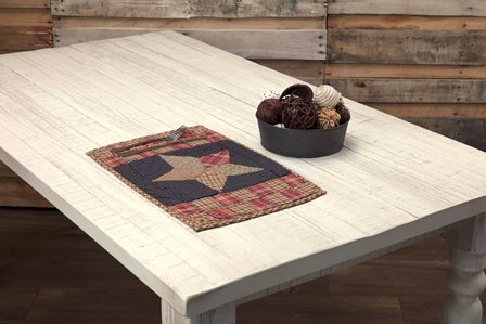 Arlington Placemat Quilted Patchwork Star Set-Arlington Placemat Quilted Patchwork Star Set