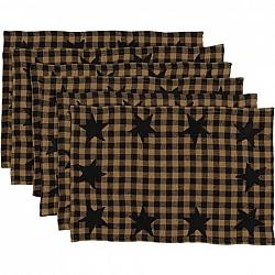 Black Star Placemat Set-Black Star Placemat Set