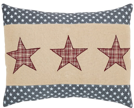 Independence Star Filled Pillow 14x18