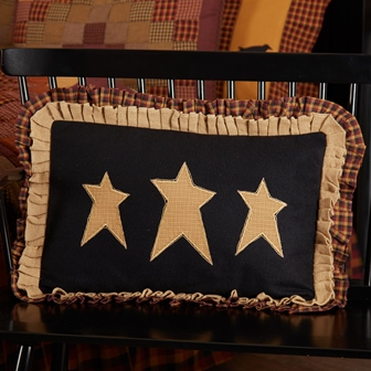 Heritage Farms Primitive Stars Pillow 14x22-Heritage Farms Primitive Stars Pillow 14x22