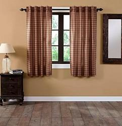 Crosswoods Short Panel Curtain Set-Crosswoods Short Panel Curtain Set