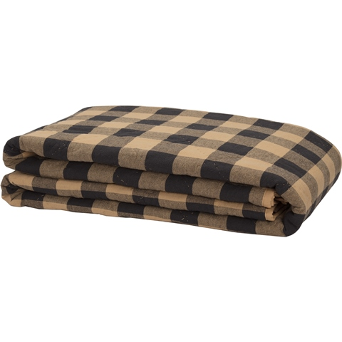 Black Check Twin Coverlet-Black Check Twin Coverlet