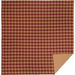 Burgundy Check Queen Quilt Coverlet-Burgundy Check Queen Quilt Coverlet