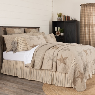 Sawyer Mill Star Charcoal Quilt Bedding