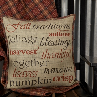 Abilene Harvest Stenciled Pillow 18x18-Abilene Harvest Stenciled Pillow 18x18