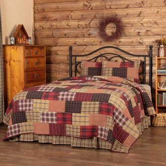Wyatt King Quilt Set; 1-Quilt 105Wx95L w/2 Shams 21x37-Wyatt King Quilt Set 1-Quilt 105Wx95L w2 Shams 21x37
