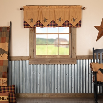 Heritage Farms Primitive Star and Pip Valance Layered 20x60-Heritage Farms Primitive Star and Pip Valance Layered 20x60