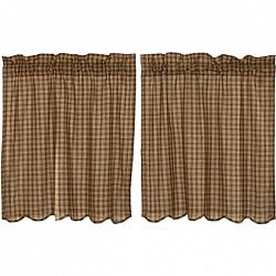 Cedar Ridge Tier Scalloped Set of 2 36x36-Cedar Ridge Tier Scalloped Set of 2 36x36