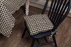 Black Check Chair Pad-Black Check Chair Pad