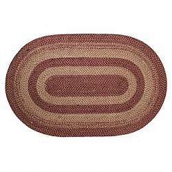 Burgundy Tan Jute Rug Oval-Burgundy Tan Jute Rug Oval
