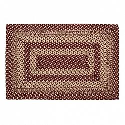 Burgundy Tan Jute Rug Rectangle-Burgundy Tan Jute Rug Rectangle