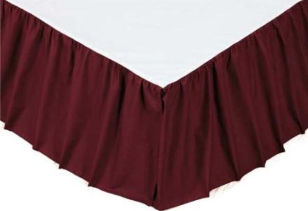 Solid Burgundy Bedding Accessories